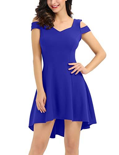 InsNova Summer Royal Blue Semi Formal Short Cocktail Dress for College Graduation Homecoming