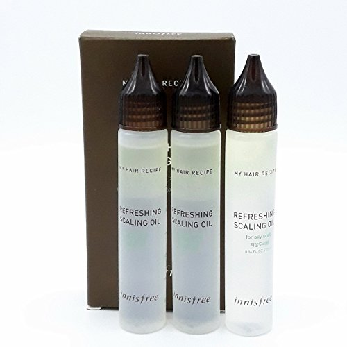 INNISFREE My Hair Recipe Refreshing SCALING OIL for OILY SCALP 3pc Set
