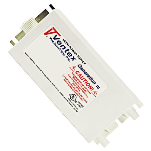 Ventex Technology VT12030Cl-120 Neon Power Supply Generation III 100 to 12000 Volt 30 mA 120 Volt Input Ventex VT12030Cl-120