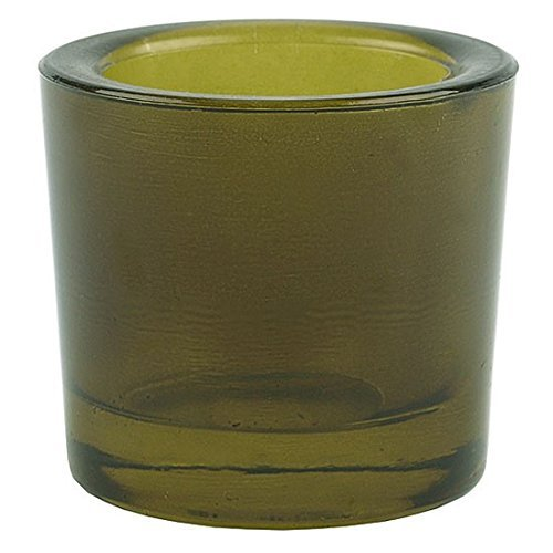 Bluecorn Beeswax Heavy Glass Votive and Tea Light Candle Holders (1, Vintage Green)