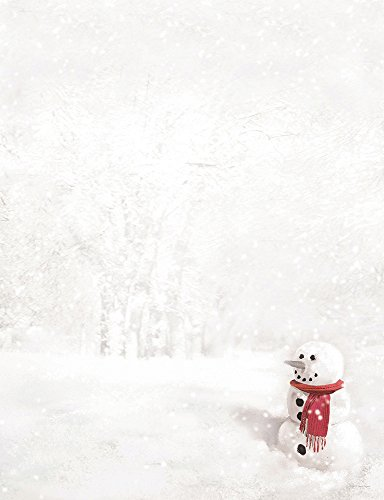 Great Papers! Snowman In Red Scarf Letterhead, 25 count, 11
