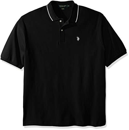 U.S. Polo Assn. Mens Big & Tall Slim Fit Short Sleeve Solid Interlock Shirt
