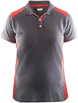 blakläder Mujer Polo tamaño XS en gris/rojo, 1 pieza, 339010509456 ...