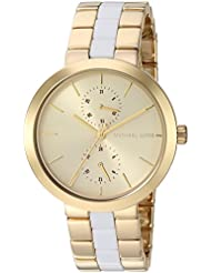Michael Kors Womens Garner Gold-Tone Watch MK6472