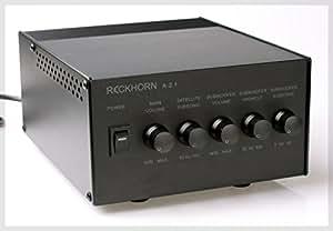 Reckhorn A 2.1 Amplificador estéreo de 3 canales + amplificador subwoofer mono con crossover activo