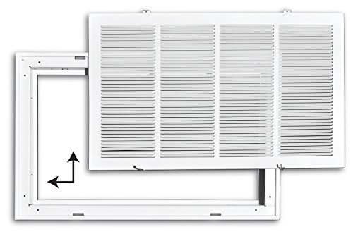 25 X 32 Steel Return Air Filter Grille for 1 Filter Outer Dimensions: 27.75w X 34.75h Flat Stamped Face HVAC DUCT COVER White HVAC Premium Removable Face//Door