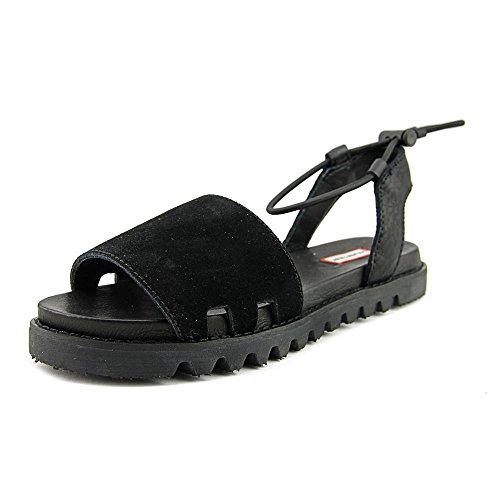 Hunter Womens Original Sandal Slide Open Toe Casual Slide Sandals Black mk4e29d