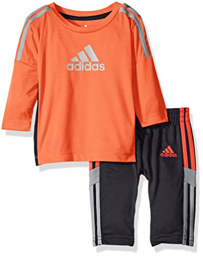 - adidas Baby Boys' Long Sleeve Tee and Pant Set, Solar Red, 12 Months