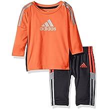 adidas Baby Boys Long Sleeve Tee and Pant Set