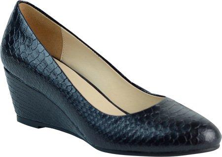 DimeCity Ann Creek Women's 'Venable' Wedge Pump Shoes B01N4DAIDC 10 B(M) US|Black