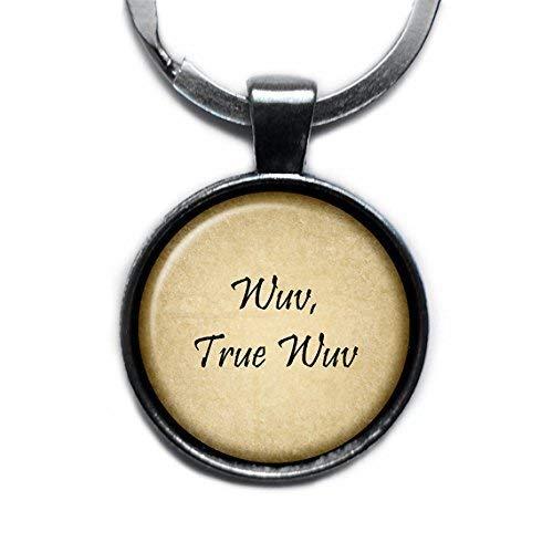 Princess Bride Wuv True Wuv Silver Keychain Keyring
