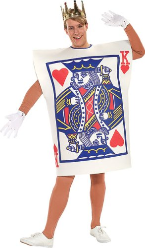 Playing Card Costume (Rubie's Costume King Of Hearts, Multicolored, One Size Costume)