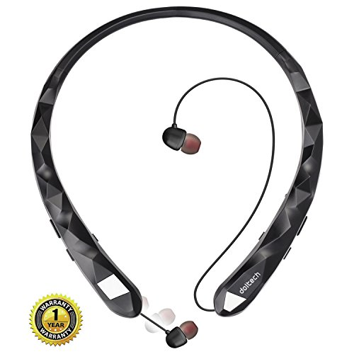 Wireless Stereo Bluetooth Sports Neckband Earphone (Black) - 4