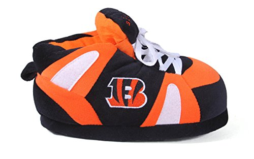 Happy Feet & Comfy Feet - OFFIZIELL LIZENZIERTE Herren und Damen NFL Sneaker Slippers Cincinnati Bengals