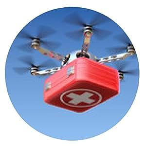 alfombrilla de ratón Drone con botiquín de primeros auxilios - ronda - 20cm