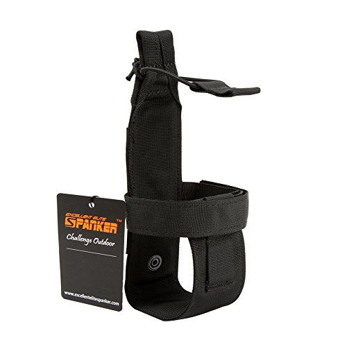 EXCELLENT ELITE SPANKER Outdoor Tactics Portable Belt Bottle Holder Molle Bottle Carrier for Hunting Walking Running Cycling Hiking Can Adjust The Size(Black)