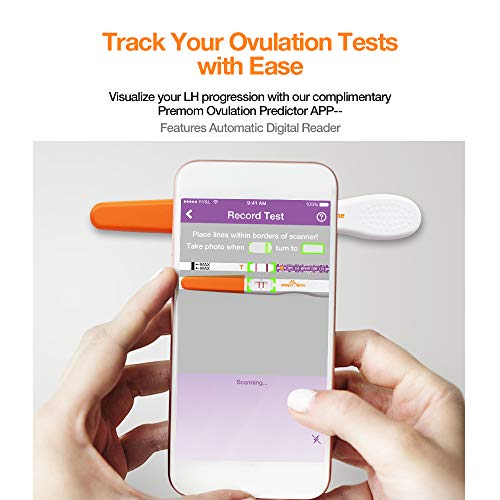 Easy@Home and 2 Sticks Tests - Reliable Predictor Kit Fertility Test, Powered by Premom Ovulation Predictor iOS and Android App for