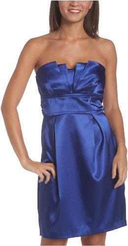 Teeze Me Juniors Origami Tube Strapless Dress,Cobalt,9