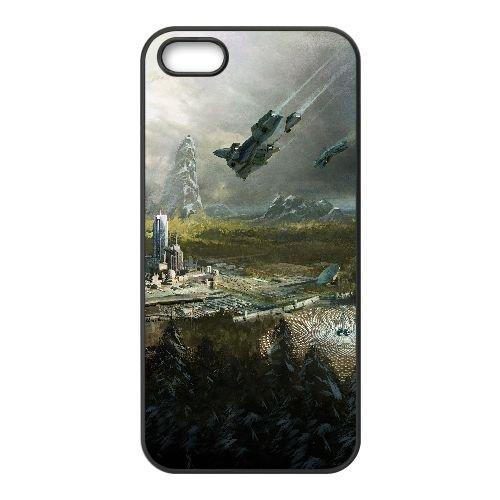 B6M63 auréole la chute de rejoindre série animée W2Y9KP coque iPhone 5 5s cellulaire cas de téléphone couvercle coque noire HZ0VVU3JP