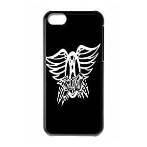 Qxhu Aerosmith patterns Snap-on Cover Hard Carrying Case for Iphone 5C
