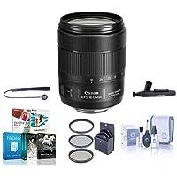 Canon EF-S 18-135mm f/3.5-5.6 IS USM Lens U.S.A. - Bundle with 67mm Filter Kit, Cleaning Kit, LensPen Lens Cleaner, Lenscap Leash, Software Package