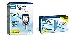 Precision Xtra Blood Glucose & Ketone Monitoring System Bundle With 50 Precision Xtra Blood Glucose Test Strips