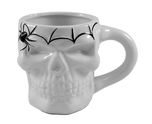 Skeleton Skull 16oz Coffee Tea Mug - Great for Halloween Party and Gift (Scary Halloween Coffee Mugs)