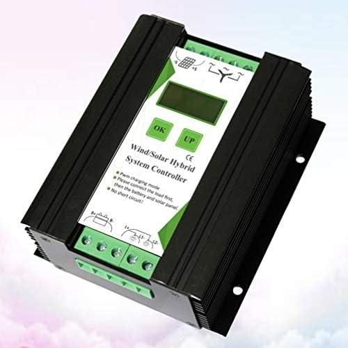Cabilock Solarpanel-Controller 12V / 24V Solarladeregler Mppt Mppt LCD Dual-USB-Timer für Den Außenbereich (Wind <300W Licht <200W