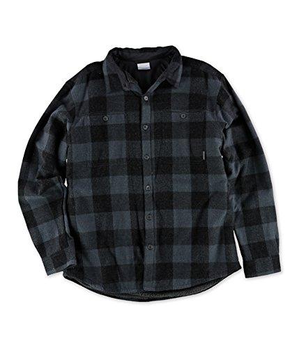 Columbia Mens Buffalo Bridge Overshirt Button Up Shirt Charcoal - Columbia Free Shipping