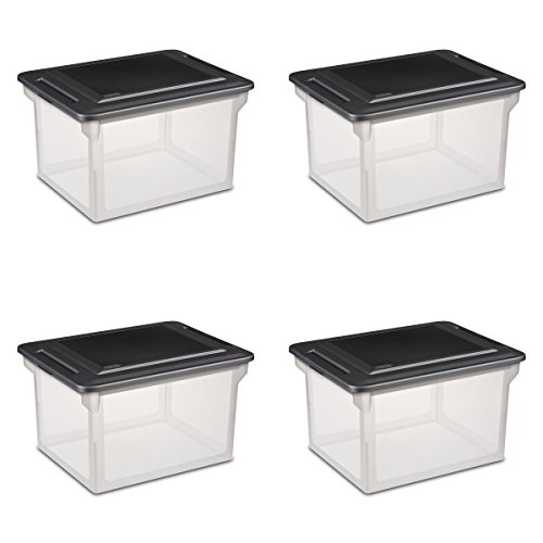 Sterilite 18689004  Storage File Box, 4-Pack
