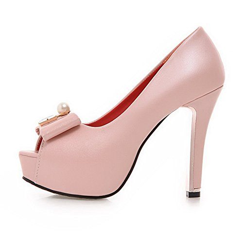 Non À Balamasa Asl05018 Sandales Des marquage Bascule Mini Rose Uréthane De taille Femmes ttzHxwqS