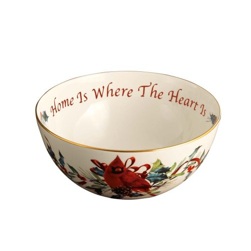Heart Lenox (Lenox Winter Greetings Sentiment Bowl, Home Is Where the Heart Is)