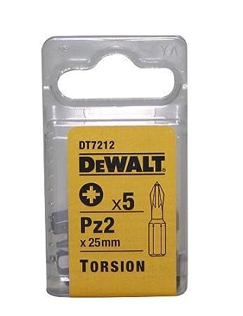 DeWalt DT7211-QZ Puntas de torsió n 25 mm Pz1, 25mm, Set de 5 Piezas