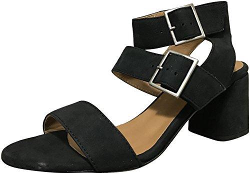 Womens Studio Heels Sandals Black (Firenze.Studio Womens Firenze Mid Heel Open Toe Sandals, Black, 7 M)