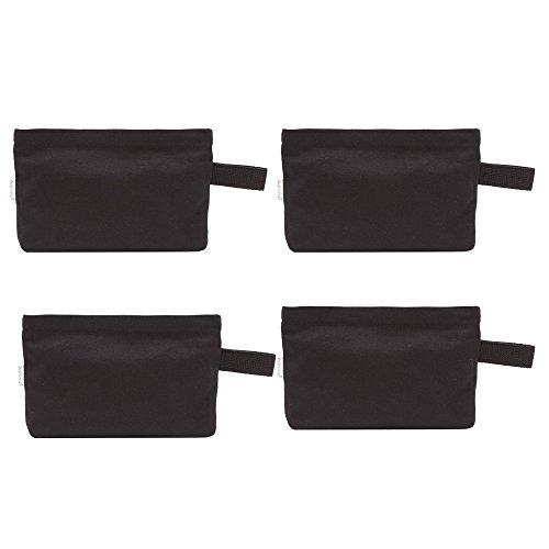 Augbunny Multi-purpose Cotton Canvas Zipper makeup Bag Pouch 4-pack