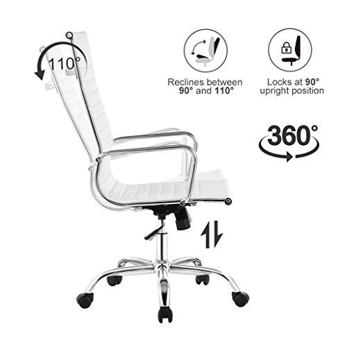 Langria sedia girevole da ufficio l design pu schienale for Sedia design girevole