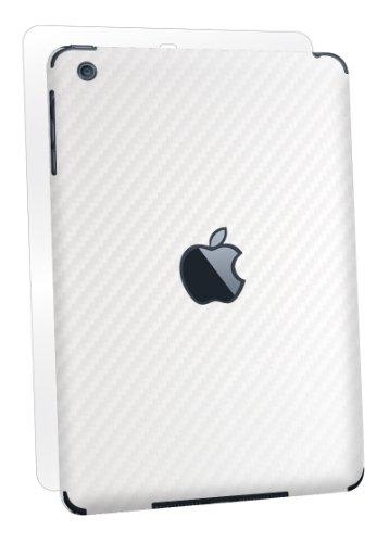 BodyGuardz Armor Carbon Fiber Full Body Stylish Protection Film for Apple iPad mini/mini 2/mini 3 - White (BZ-ACWIM-0912)