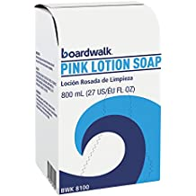 Boardwalk 8100CT Mild Cleansing Pink Lotion Soap, Floral-Lavender, Liquid, 800mL Box (Case of 12)