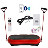 HomGarden Crazy Fitness Vibration Fit Machine Plate Platform Massager – Whole Full Body Shape Exercise Machine Workout Trainer Slim w/Bluetooth