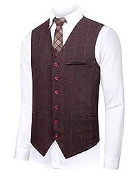 CMDC Men's Summer Two-Piece Business Suit Dress Waistcoat & Pants D223