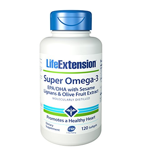 Cheap Life Extension Super Omega-3 Epa/Dha w Sesame Lignans Olive Extract Krill/Astaxanthin Softgel, 120 Count