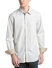 Faconnable Mens Woven Shirt, XL, Blue