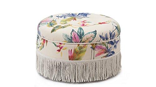 Jennifer Taylor Home 2345-804 Yolanda Ottoman, Off-White/Floral