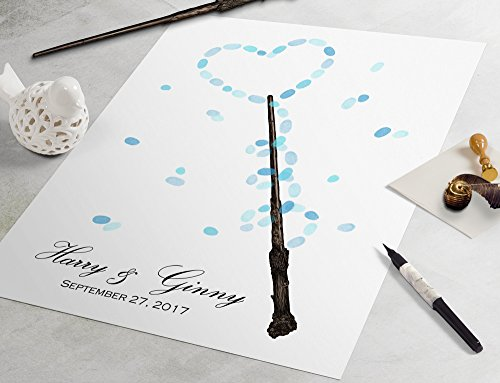 - Harry Potter Wedding Guest Book: Magic Wand guestbook, fingerprint guestbook, fingerprint tree, thumbprint tree, nerdy guestbook alternative