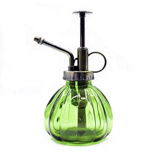 (Lchen Plant Mister Vintage Style Decorative Glass Bottle with Top Pump (Green) )