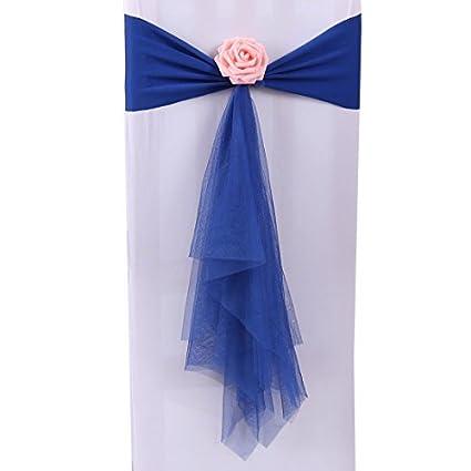 eDealMax Cubierta de la Silla del ornamento Aniversario Festival de banquetes banquete de boda de la