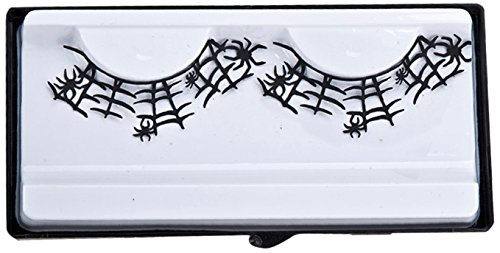 Carnival Toys 07198Lashes with Spider Web-Black
