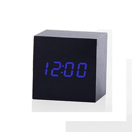 QZTG Despertador Digital Control De Sonido Multicolor Reloj De Madera Nuevo Reloj De Alarma Led De
