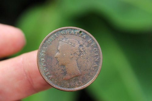 Canadian coin, Half Penny Token, Queen Victoria, New Brunswick, VG/F, 1843