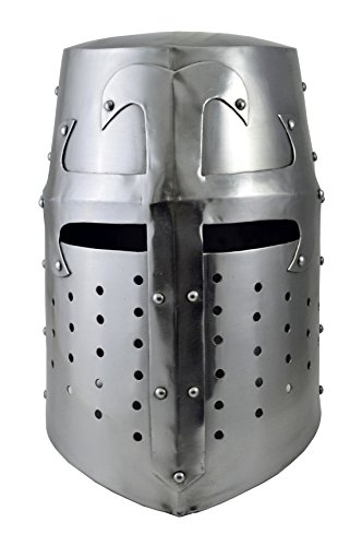 Brass Nautical- Medieval Crusader Armour Replica Armor Replicas Reproduction Costume Hat Silver